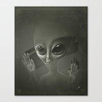 alien Canvas Prints featuring Alien by Dr. Lukas Brezak