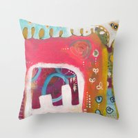 india Throw Pillows featuring India by Joana Carvalho