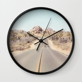 Joshua Tree Desert Road - Landscape Photography Wall Clock