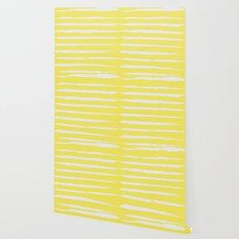 Irregular Stripes Yellow Wallpaper