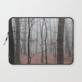 Woods on a Foggy Sunday Stroll Laptop Sleeve