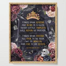 Three Dark Crowns Serving Tray