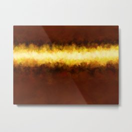 Liquid Gold Sunbeam with Burnished Bronze Metal Print