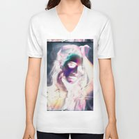 glitch V-neck T-shirts featuring Glitch by Carli