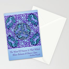 7 Blue Celtic Horses Stationery Cards