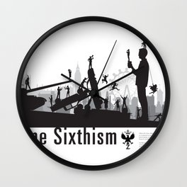 One Sixth Ism (Black World) Wall Clock