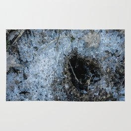 Icy Footprints Rug
