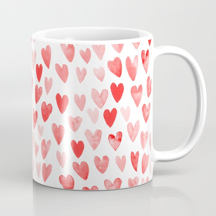 Watercolor Heart Pattern Perfect Gift To Say I Love You On