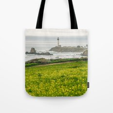 The lighthouse of highway 101 Tote Bag