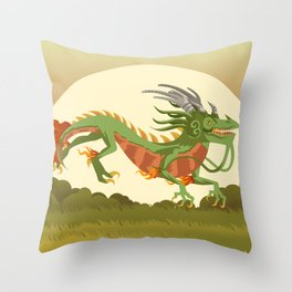 traditional chinese dragon Throw Pillow