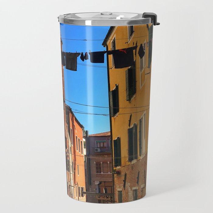 Laundry Day in Venice Travel Mug