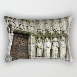 Notre Dame Cathedral Paris Detail Rectangular Pillow