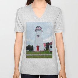 Campbelton Lighthouse Unisex V-Neck