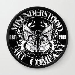 """MISUNDERSTOOD ART COMPANY """"LOGO"""" Wall Clock"""