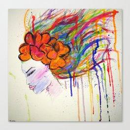 Drip Woman Canvas Print