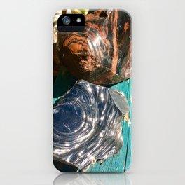 Obsidian rock iPhone Case