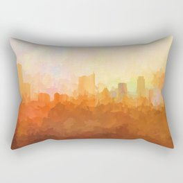 Austin, Texas Skyline - In the Clouds Rectangular Pillow