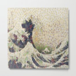 The Great Wave Of Honeydew Melon After Hokusai Metal Print