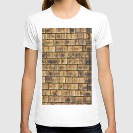 Window and cedar wall T-shirt