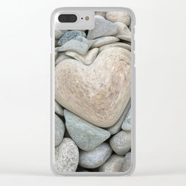 heart love stones in the quarry Clear iPhone Case