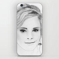 emma watson iPhone & iPod Skins featuring Emma Watson by Paint the Moment