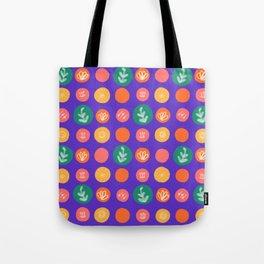 Botanical Polka Dots Tote Bag