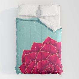 Big Holidays Christmas Red Echeveria Design Comforters