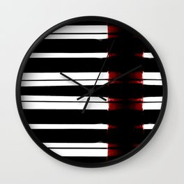Black And White Lines Wall Clock