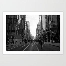 Ginza Street Tokyo Art Print