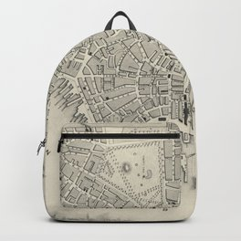 Vintage Map of Boston MA (1838) Backpack
