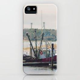 Cape Cod Fishing Boat iPhone Case