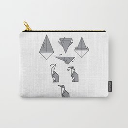 Origami Penguin Carry-All Pouch