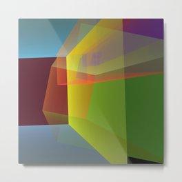 Modern colourful translucent cubism Metal Print