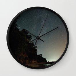 Milky way landscape at the coast of 'Colonia, Uruguay' Wall Clock