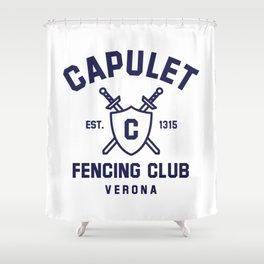 Capulet Fencing Club - Romeo & Juliet Shower Curtain