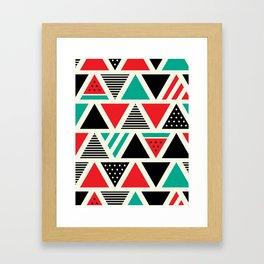 Watemelon Geometric Triangles Pattern Framed Art Print