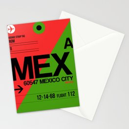 MEX Mexico City Luggage Tag 2 Stationery Cards