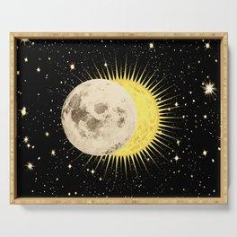 'Imminent Eclipse' Sun Moon & Stars Serving Tray