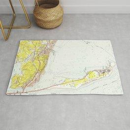 Vintage Map of Sandy Hook NJ (1954) Rug