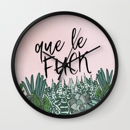 QUE LE FUCK Wall Clock