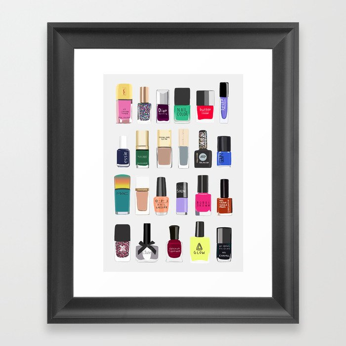 My nail polish collection art print Gerahmter Kunstdruck