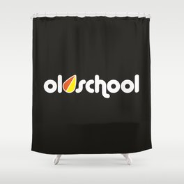OLDSCHOOL v4 HQvector Shower Curtain