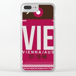 VIE Vienna Luggage Tag 2 Clear iPhone Case
