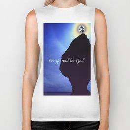 Let Go and Let God Biker Tank