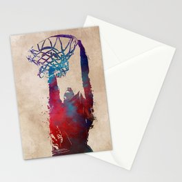 basketball player #basketball #sport Stationery Cards