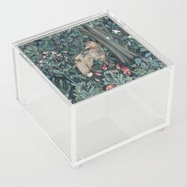 William Morris Forest Fox Tapestry Acrylic Box
