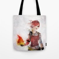 borderlands Tote Bags featuring Lilith by Melissa Smith