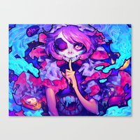 barachan Canvas Prints featuring wraith by barachan