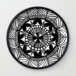 Black and White Papercut circle Wall Clock