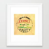hobbit Framed Art Prints featuring Hobbit Party by Purrito Press